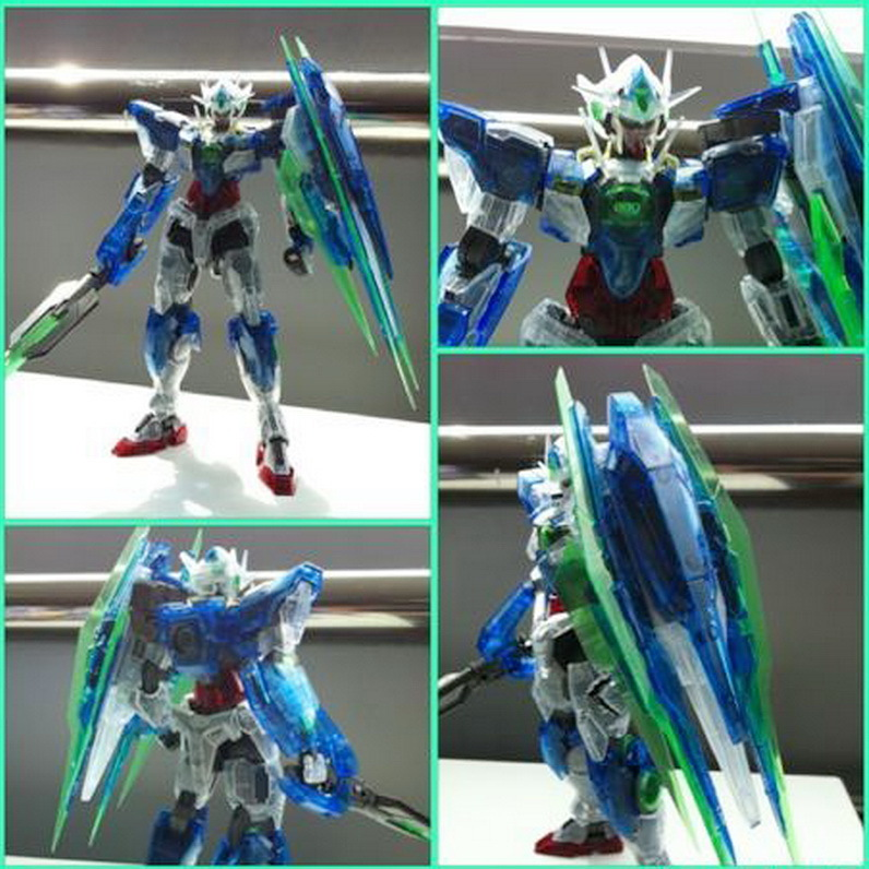 2011 Gunpla World Expo: MG 00 Qan[T] Clear Ver. New Large Images ...