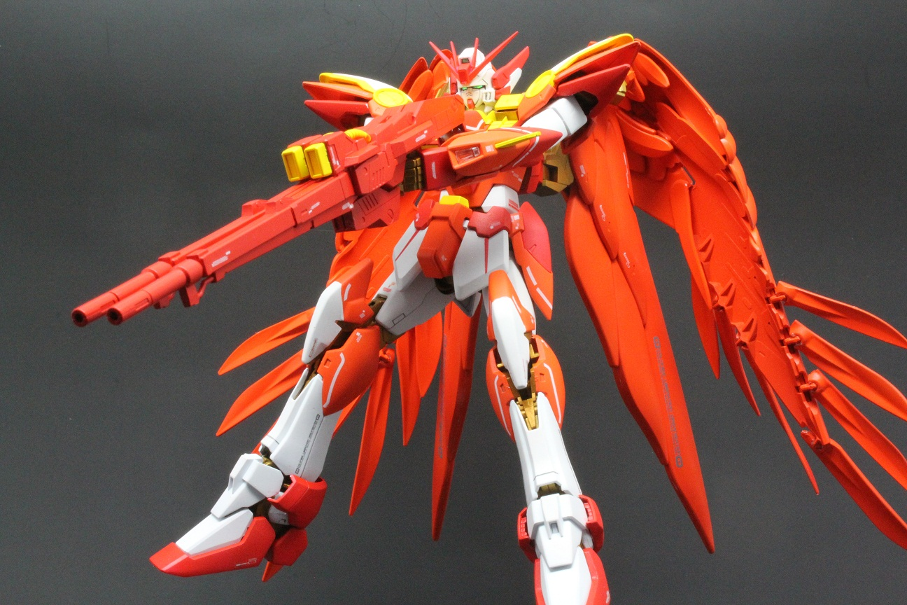 G Work Of The Day Wing Gundam Zero Phoenix Tail Feather