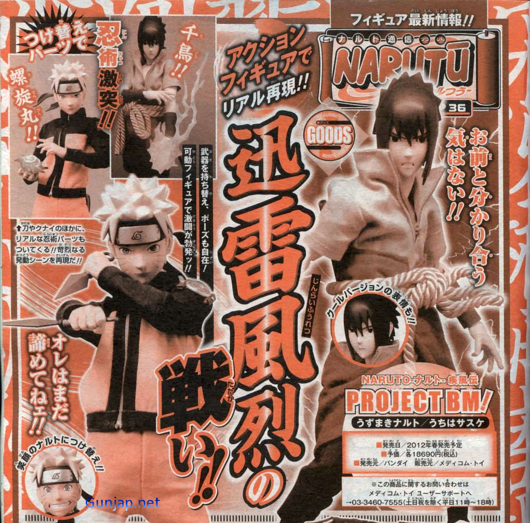Preview: Project BM! Naruto Shippuden & Sasuke BIG Size Scan, Info