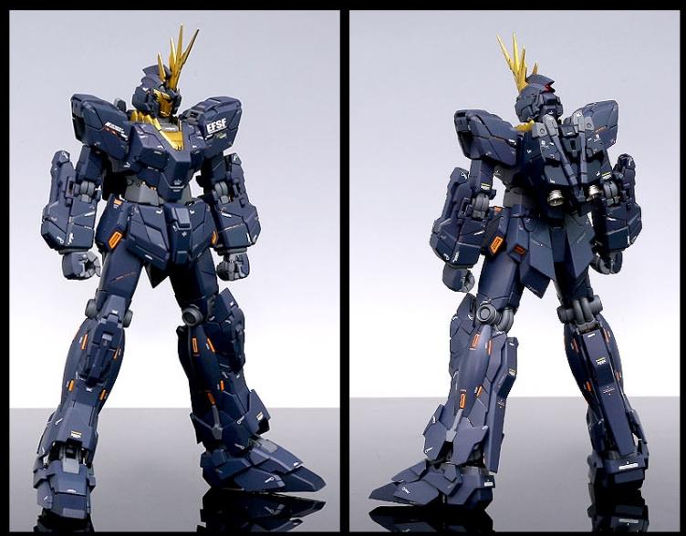 G Work Of The Day Mg 1 100 Rx 0 Unicorn Gundam Banshee No 27 Big