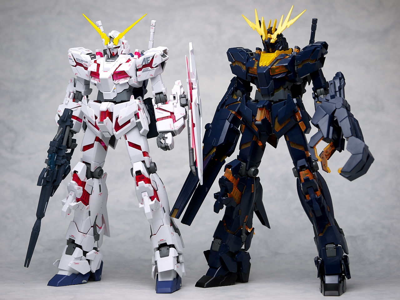 2nd Full Kit Review Mg 1 100 Rx 0 Unicorn Gundam 02 Banshee