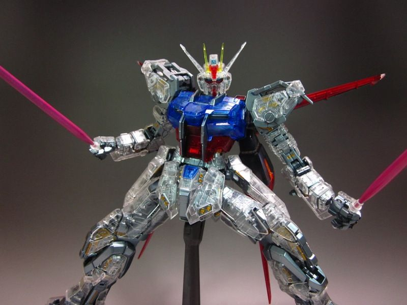 Perfect Grade Aile Strike Sky Grasper Clear Color Assembled No 18 Big Size Images Gunjap