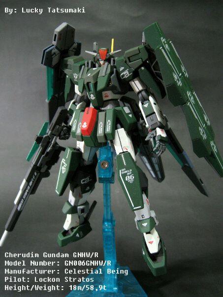 HG 1/144 GN006GNHW/R Cherudim Gundam GNHW/R: Assembled ...