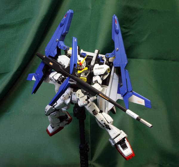 "RG RX-178 Gundam Mk-II A.E.U.G.+G-Defenser ""Super Gundam"": Assembled, Painted, Improved. Many Big Size Images"