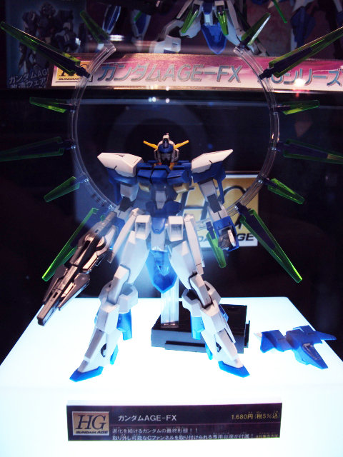 HG 1/144 Gundam AGE-FX on Display @ World Hobby Fair 2012