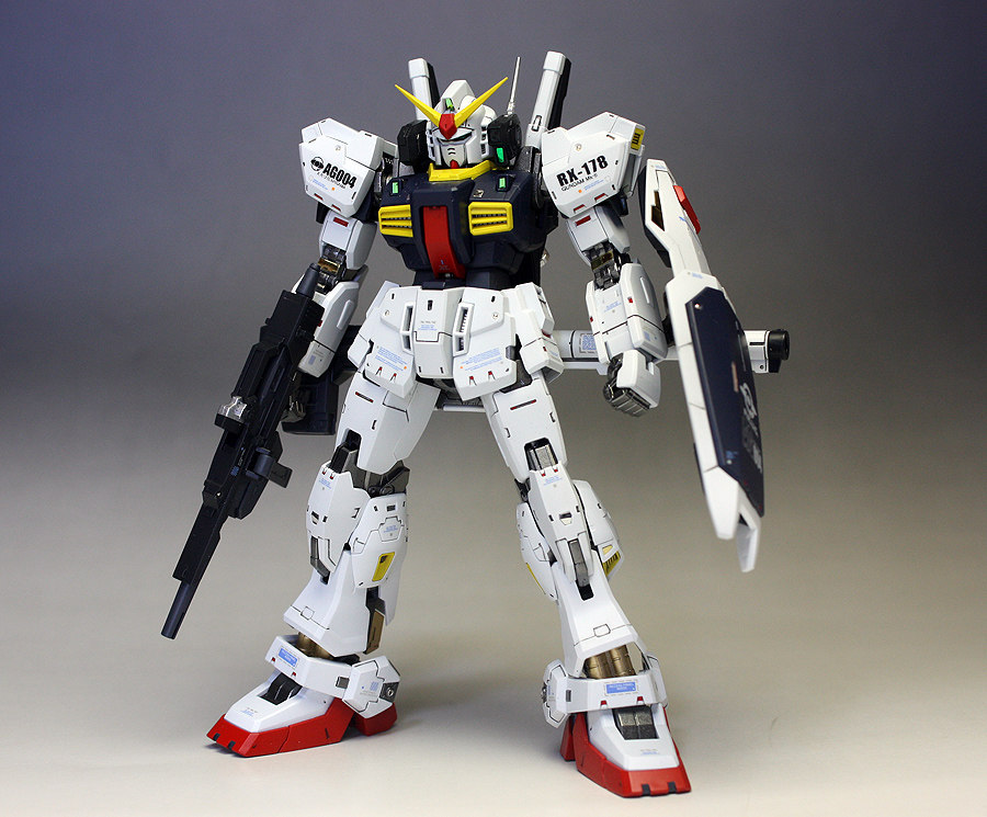 RG RX-178 Gundam Mk-II A.E.U.G. + G Defenser + Flying Armor: Assembled, Painted/Improved. No.19 Big Size Images (Closeups too!)