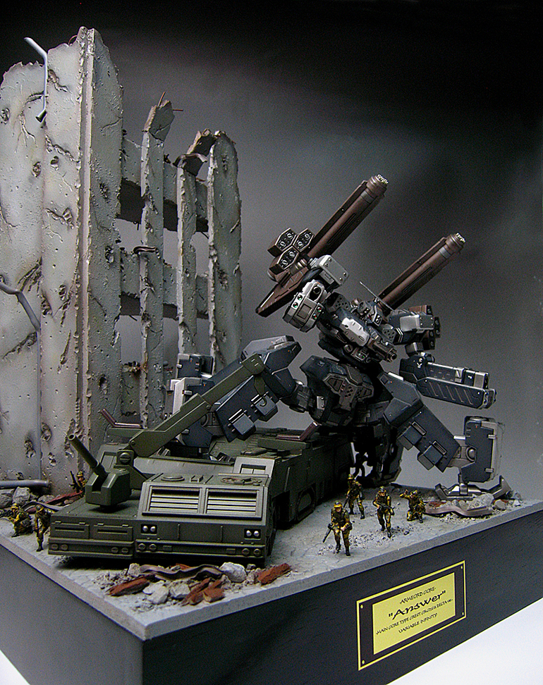 "Diorama: Armored Core ""ANSWER"". Photoreview Wallpaper Size Images"