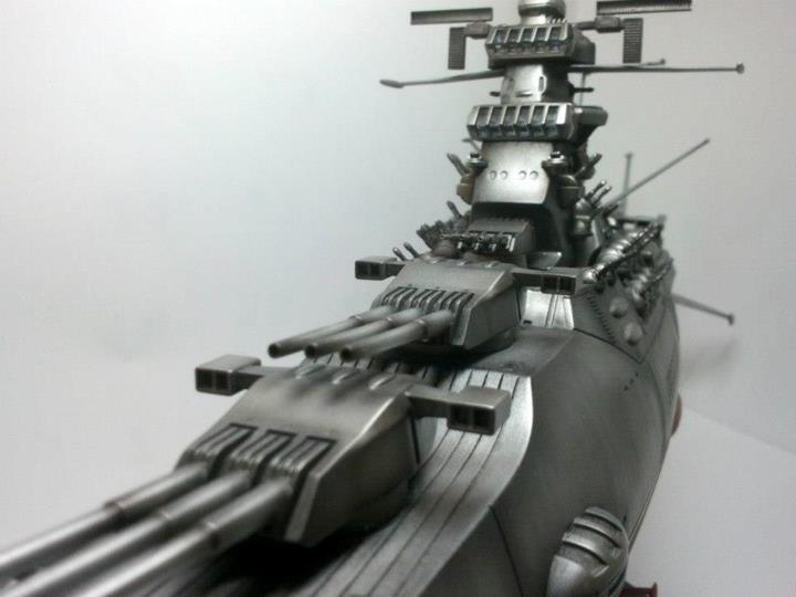 1/500 Space Battleship Yamato: Painted/Build  Weathered  Big