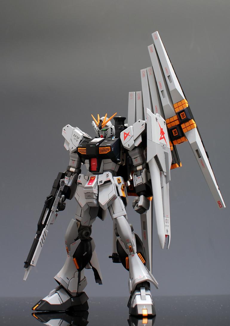 HGUC RX-93 Nu Gundam: Painted Build. Wallpaper Size Images ...