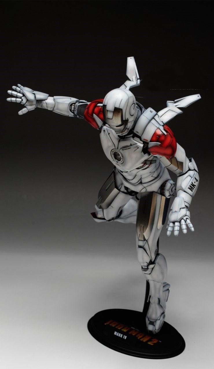 1 6 iron man mark iv hot toys custom paint wallpaper - Iron man 1 images ...