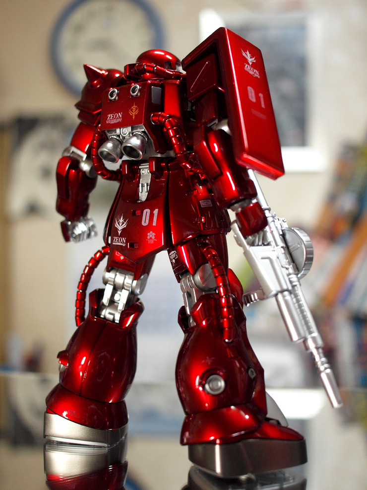 MG 1 100 Zaku F2 Metallic Red Assembled Custom Paint