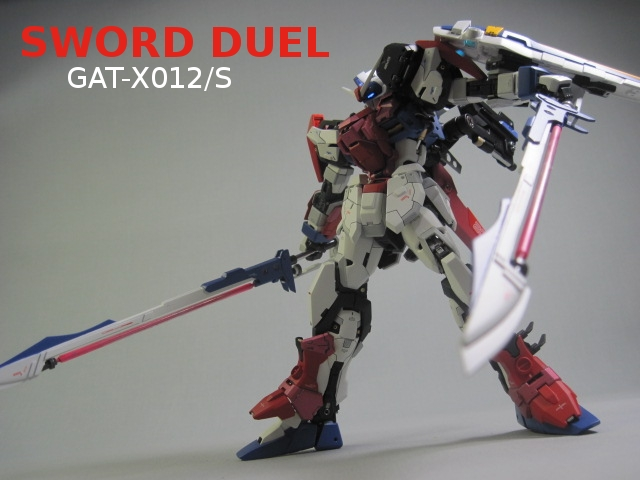 1 100 Gat X012 S Gundam Sword Duel Custom Work Painted