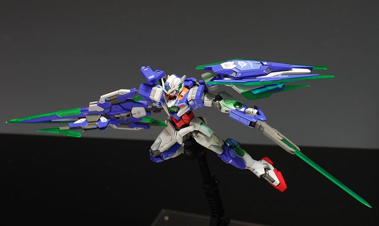 1144 gundam 00 qant full saber improved painted build