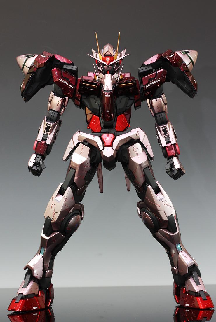 Pg Gundam 00 Raiser Custom Paint In Trans Am Mode W Remodeling No 19 Big Size Images Gunjap