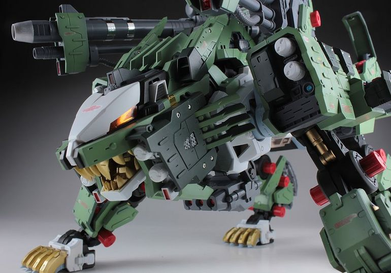 Liger Zero Jager pouncing by DGMM Liger Zero Jager pouncing by DGMM