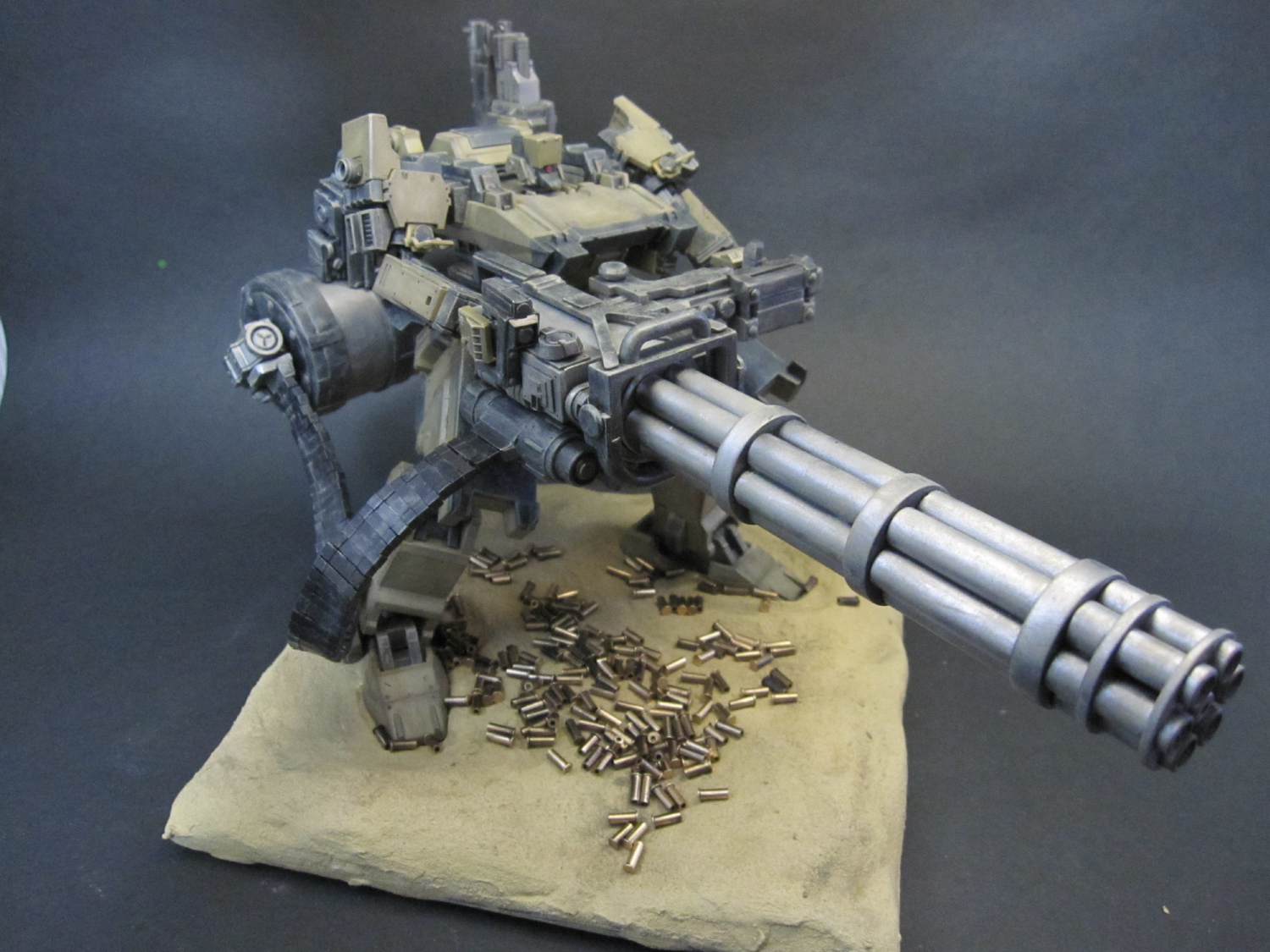 """Armored Core """"Sunshine-L"""" w/Gatling Gun: Custom Work w/Diorama. Photoreview No.10 Full Size Images"""