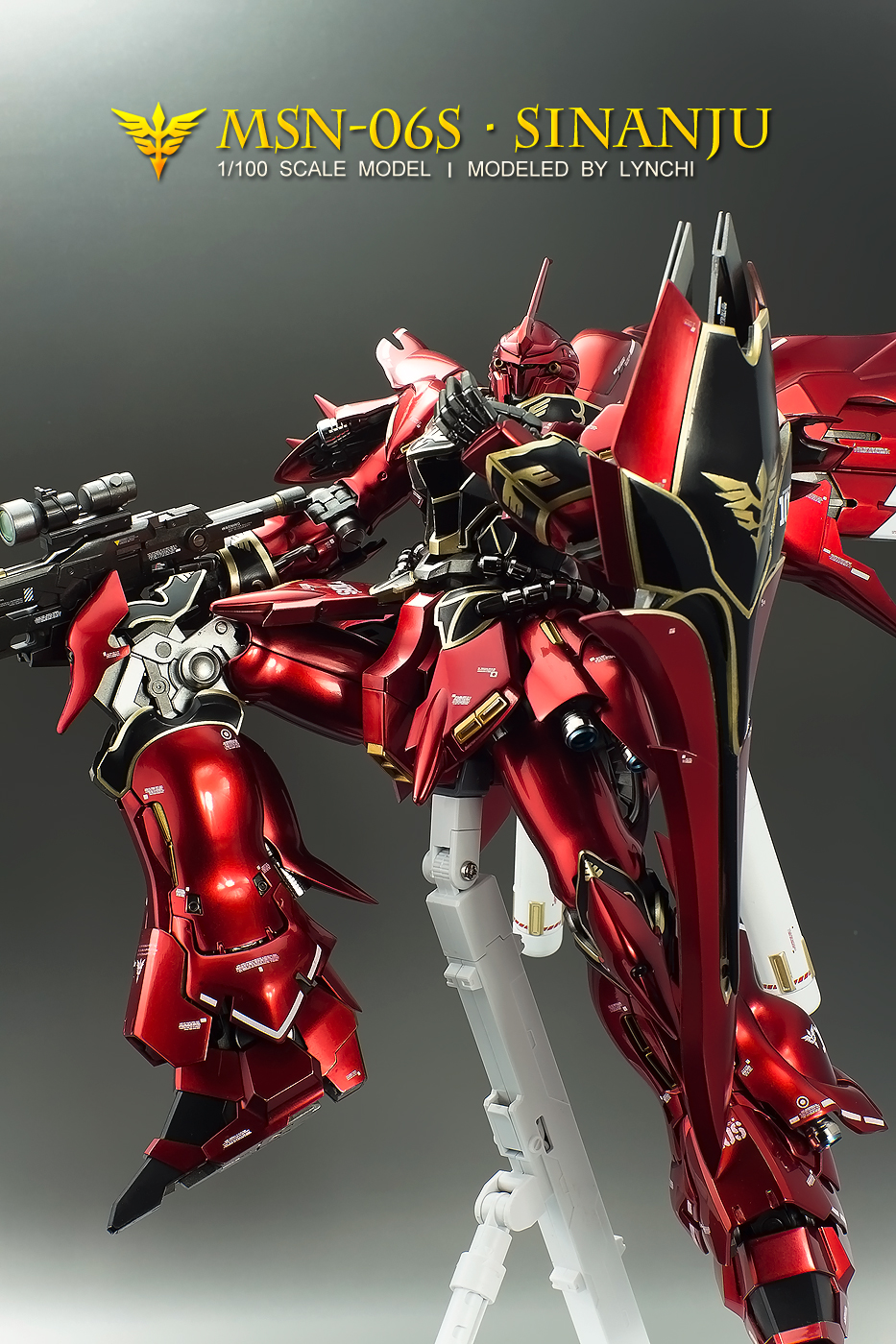 MG 1/100 MSN-06S Sinanju Ver.Ka : Improved, Painted Build. (Inner Frame too) FULL Photoreview No ...