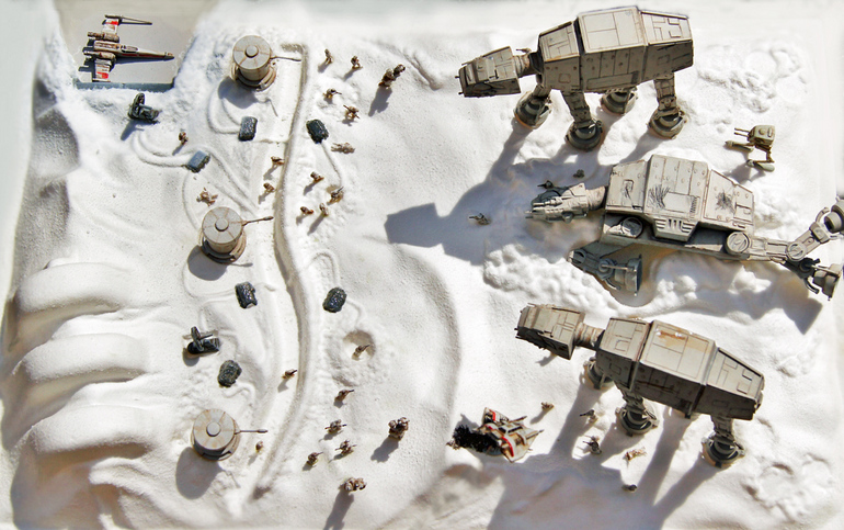 "Vintage: Star Wars ""Battle of Hoth Action Scene"" Diorama (AMT Hertl"
