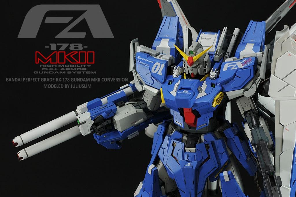 Pg Rx 178 Gundam Mk Ii Conversion Full Armor Fa 178 Mkii