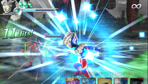 PSP Heroes Vs Dramatic Fighting Action Game Combines Gundam
