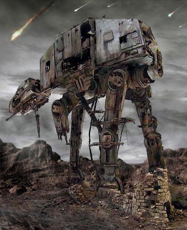 """Star Wars] 1/32 Diorama: """"Abandoned Refuge"""" (AT-AT"""