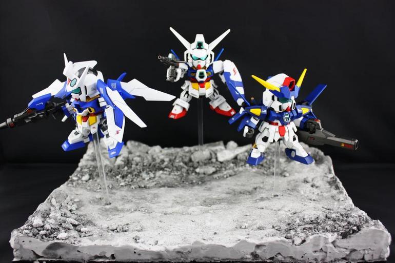 "Gundam Diorama Tutorial Diorama ""sd Gundam Age"