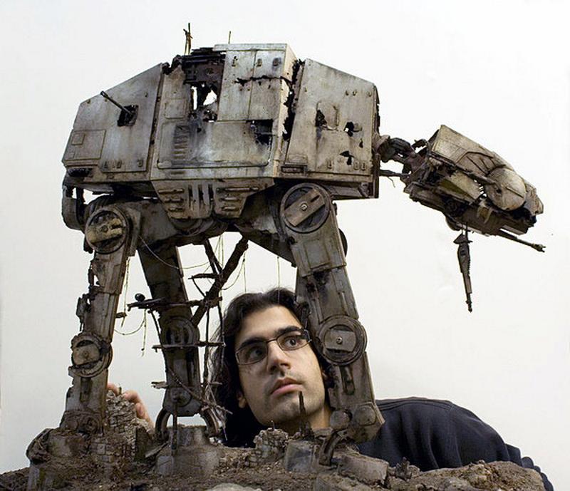 Star Wars 1 32 Diorama Abandoned Refuge At At