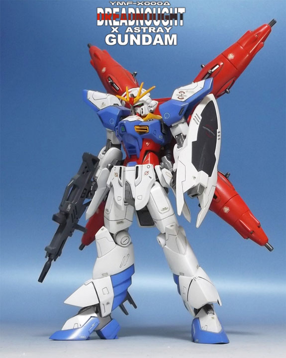1/144 Dreadnought x Astray Gundam Custom Build. Big Size Images