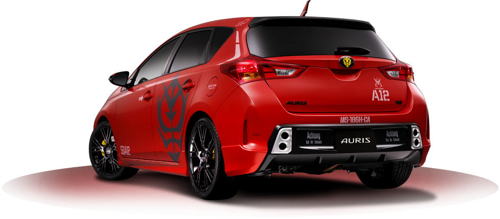 Toyota Official Site >> Zeon x Toyota: ZEONICTOYOTA [Char's MS-186H-CA Toyota Auris hatchback] Ultimate Official ...