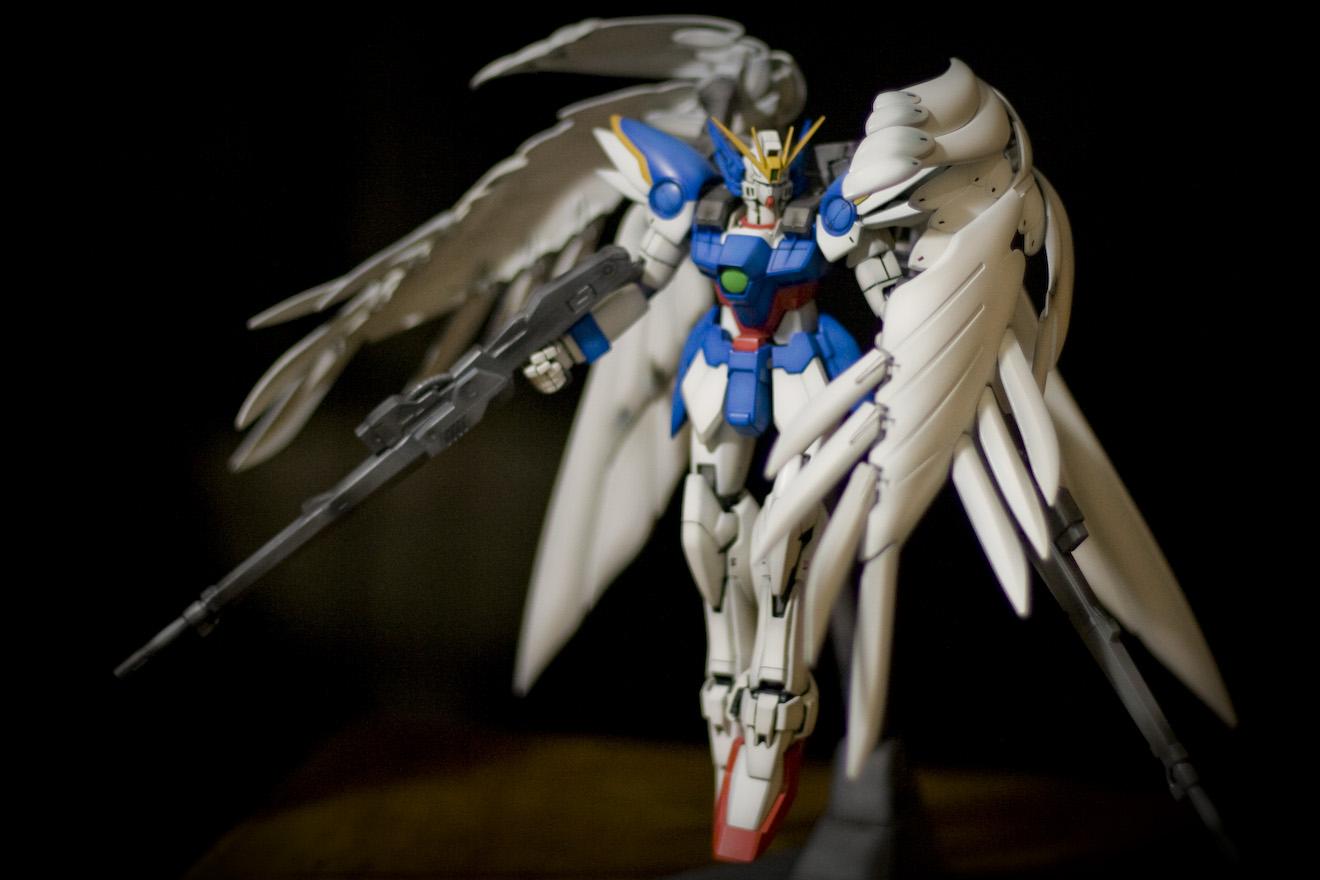Mg 1 100 Wing Gundam Zero Custom Modeled By Stephanus Harjanto