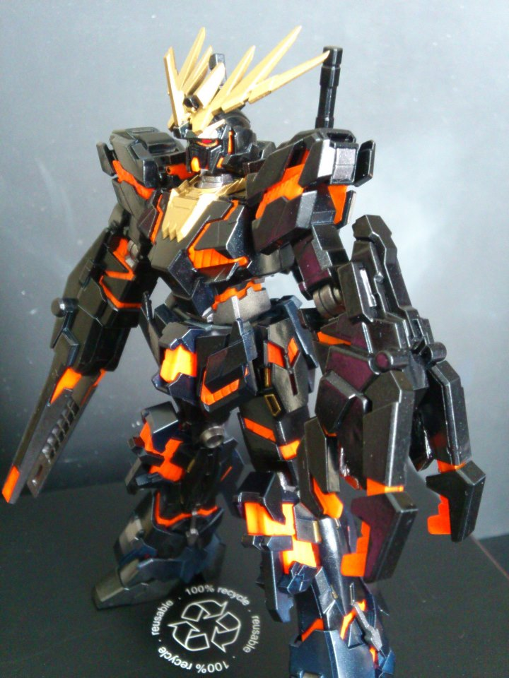 RX-0 Unicorn Gundam 02 Banshee: Modeled by sm_bear ... Gundam Banshee Wallpaper