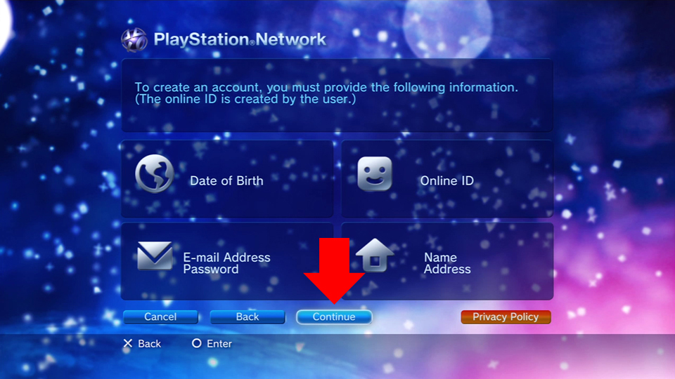 how to create new ps3 account