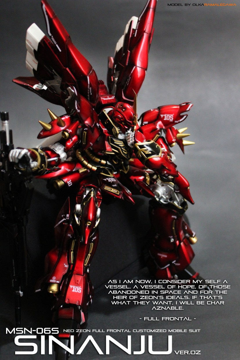 MG 1/100 MSN-06S SINANJU custom titanium paint job ...