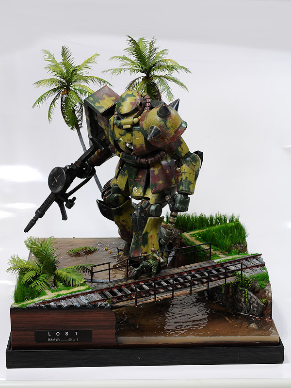 1/48 Amazing Gunpla Diorama: 1/48 MS-06F Zaku II [L.O.S.T