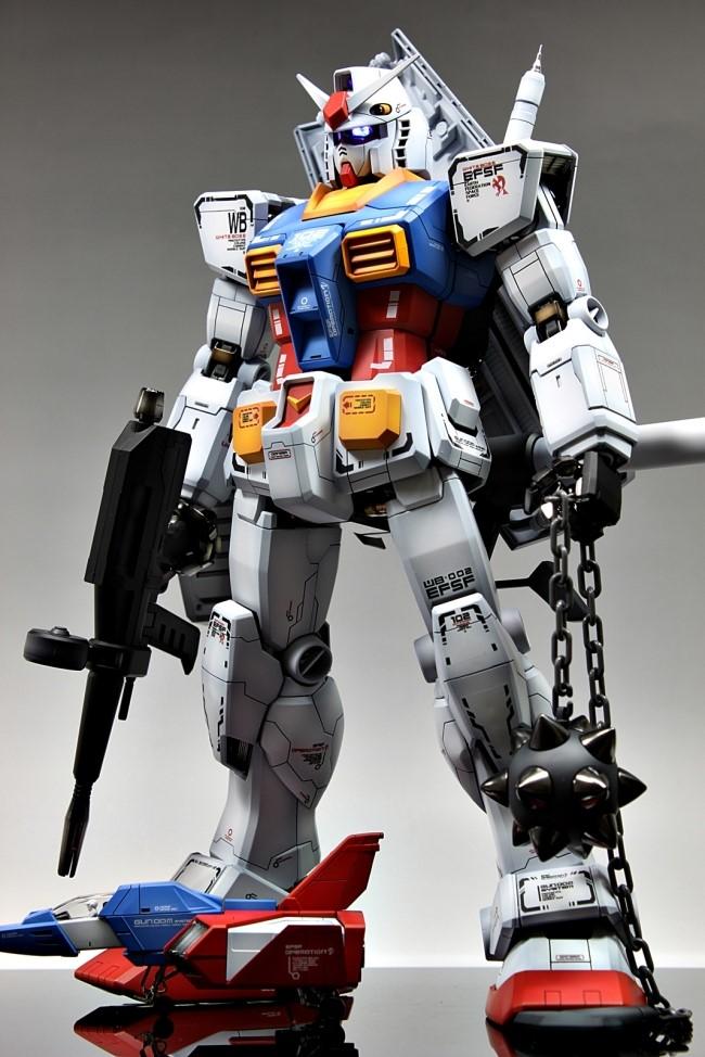 PG 1/60 RX-78-2 Gundam: Improved, Painted Build. Full