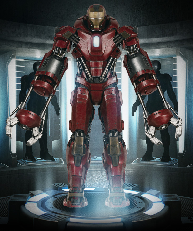 Iron man 3 armor photos revealed heartbreaker igor shotgun silver