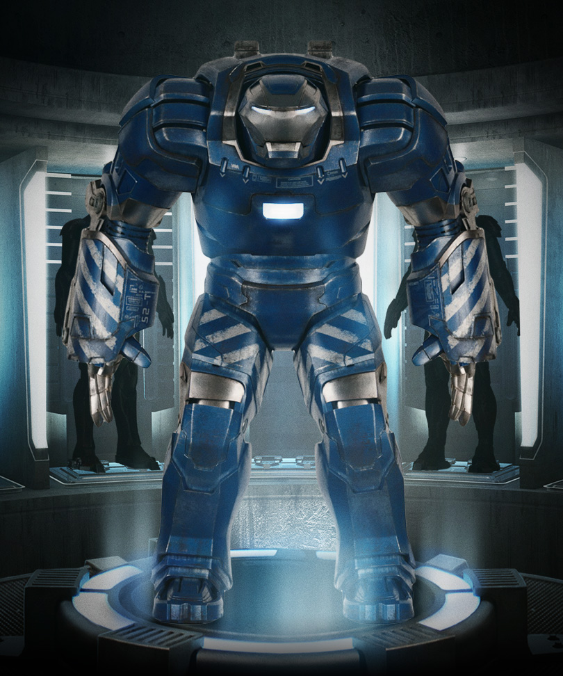 Iron Man 3 Armor Suits Mark 17 with the Iron Man 3 Armor