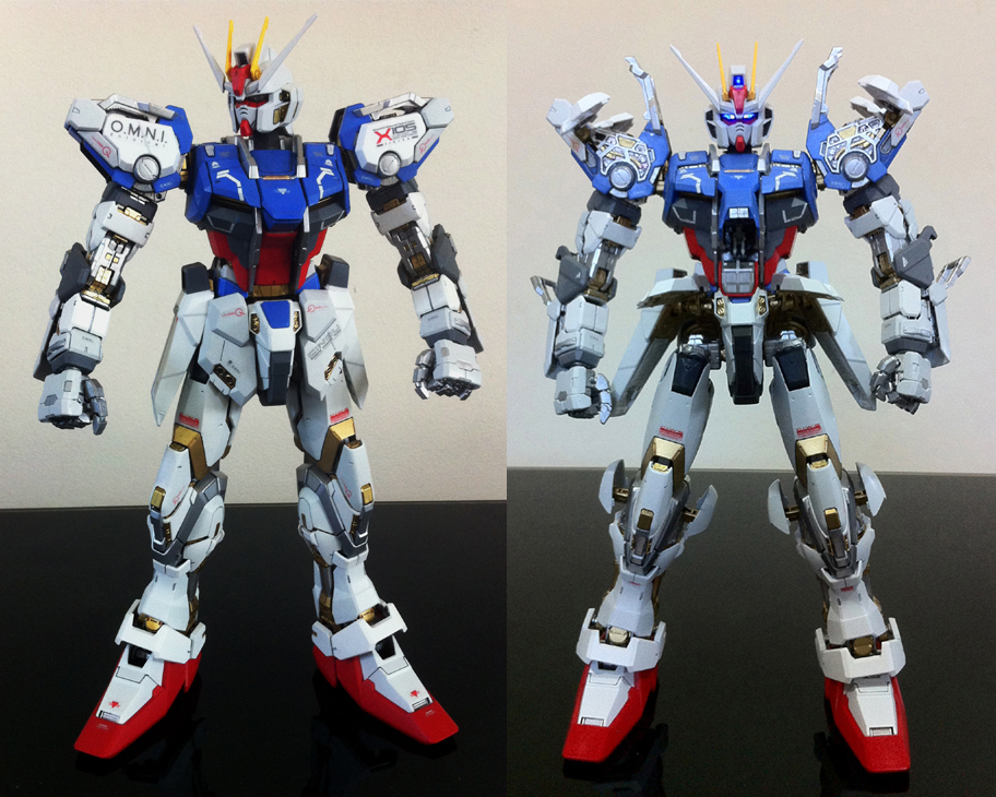 cheap for discount 545a1 4c650 PG 1/60 Strike Gundam Custom Paint: Modeled by Ronin ...