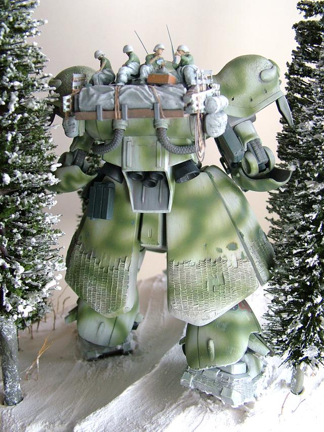 "Gunpla Diorama: ""March in the Snow"". [雪中行軍] Latest Work by ..."
