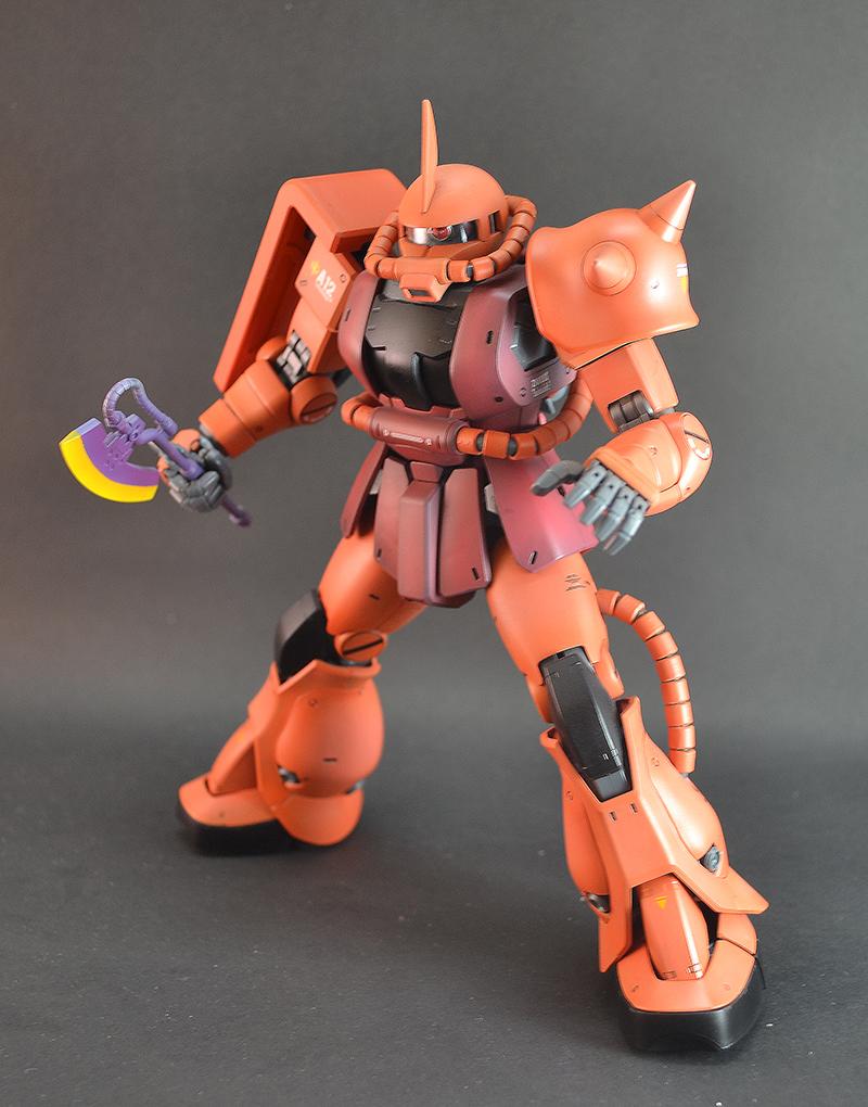Zaku Ii Char Aznable Custom Paint Build Modeled By
