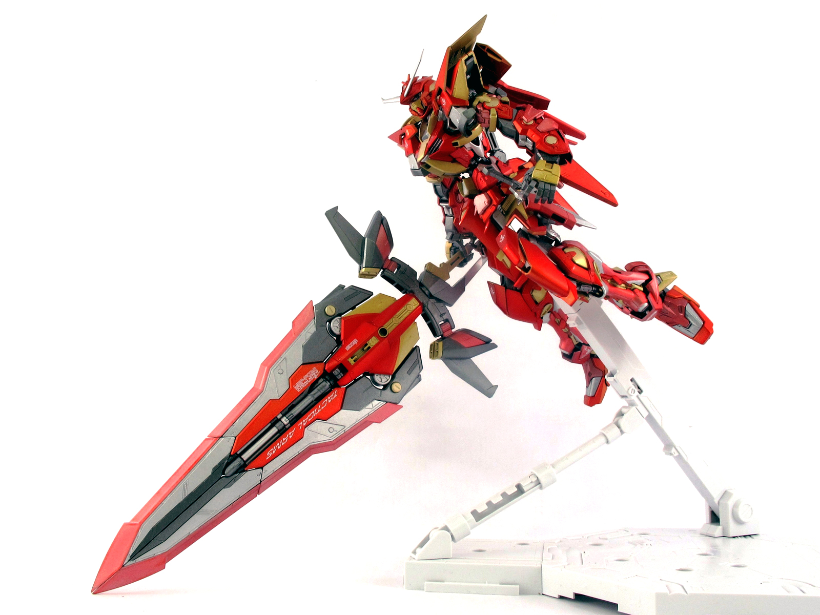 Mg 1 100 Red Army Gundam Astray Blue Frame Second Revise