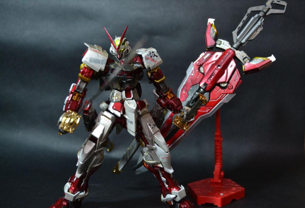 Mg 1 100 Gundam Astray Red Frame Kai W Led Modeled By