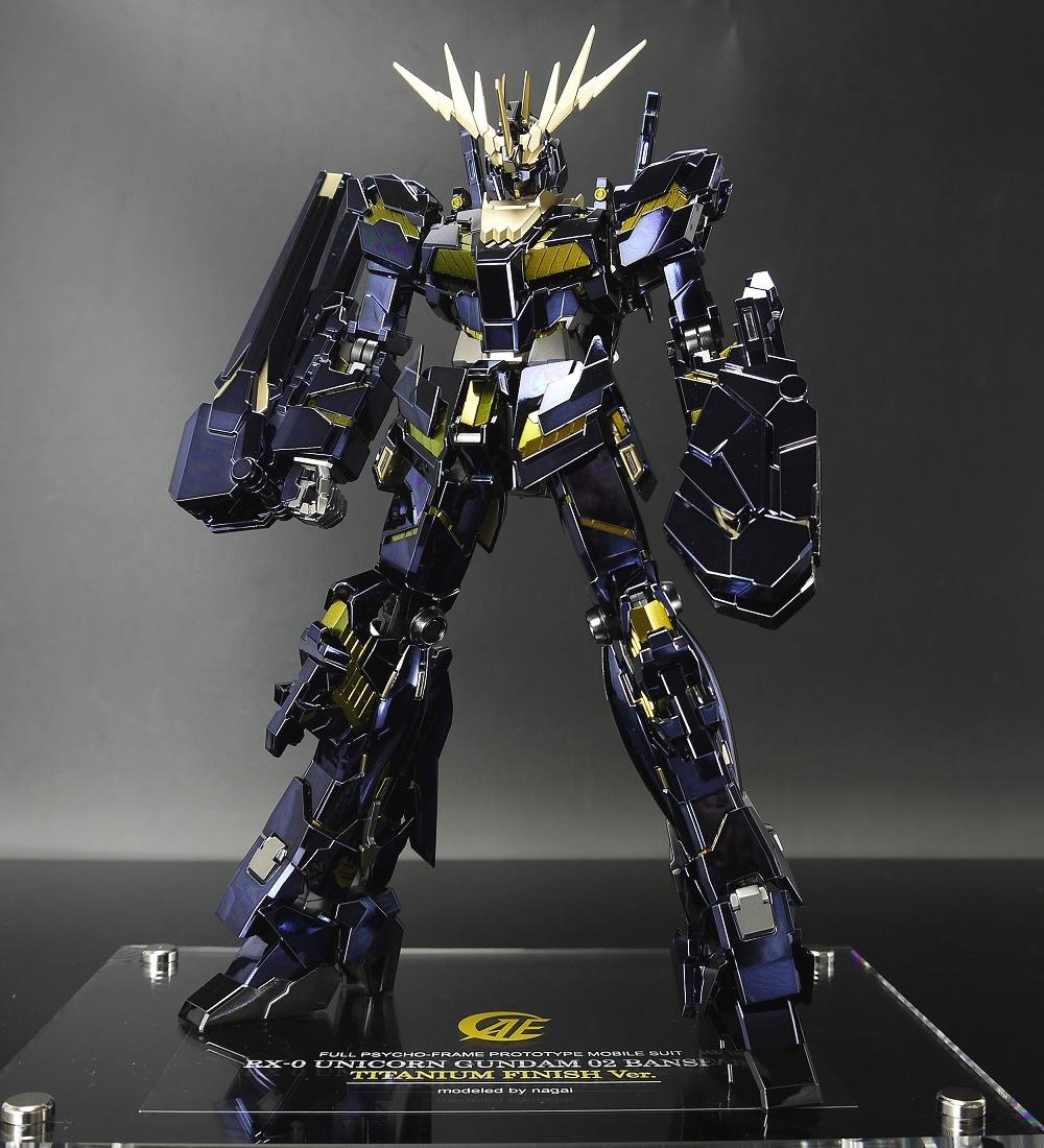 Mg 1 100 Unicorn Gundam 02 Banshee Titanium Finish Ver Modeled By
