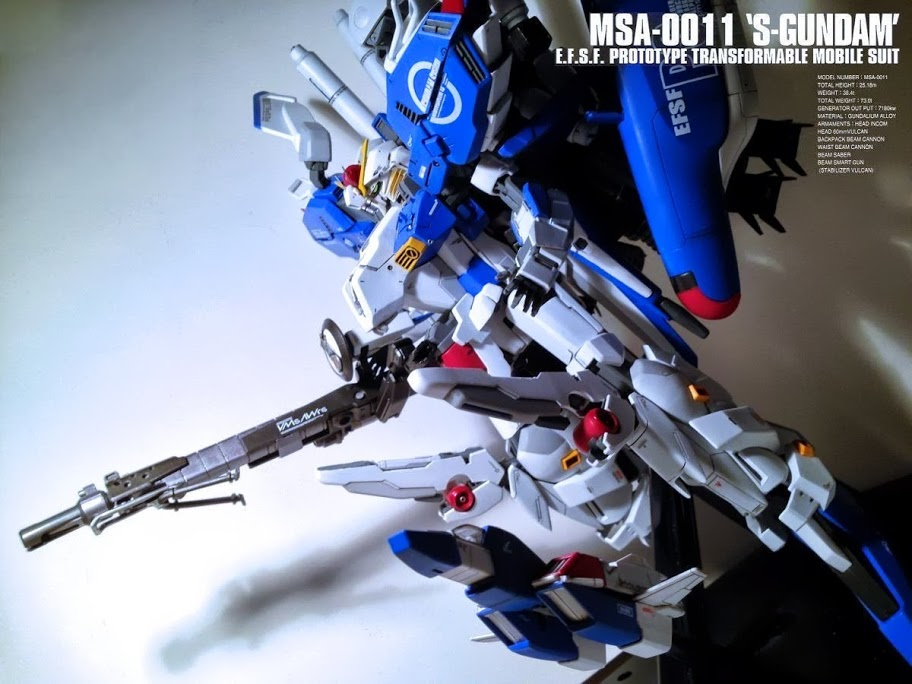 cw 1 100 msa 0011 ext ex s gundam modeled by alexkcl. Black Bedroom Furniture Sets. Home Design Ideas