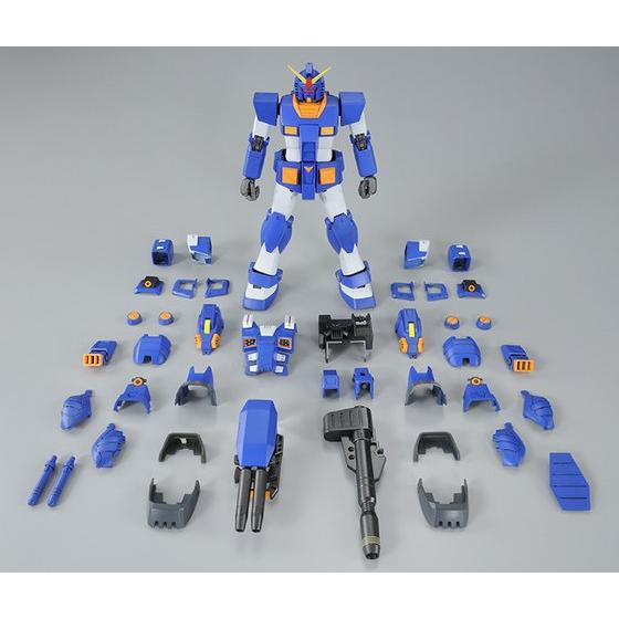 The Heavily Armored Full Armor Gundam Goes On As A Blue Colored Mg Its Iconic And White Coloring Is Recreated With Base Plastic Color