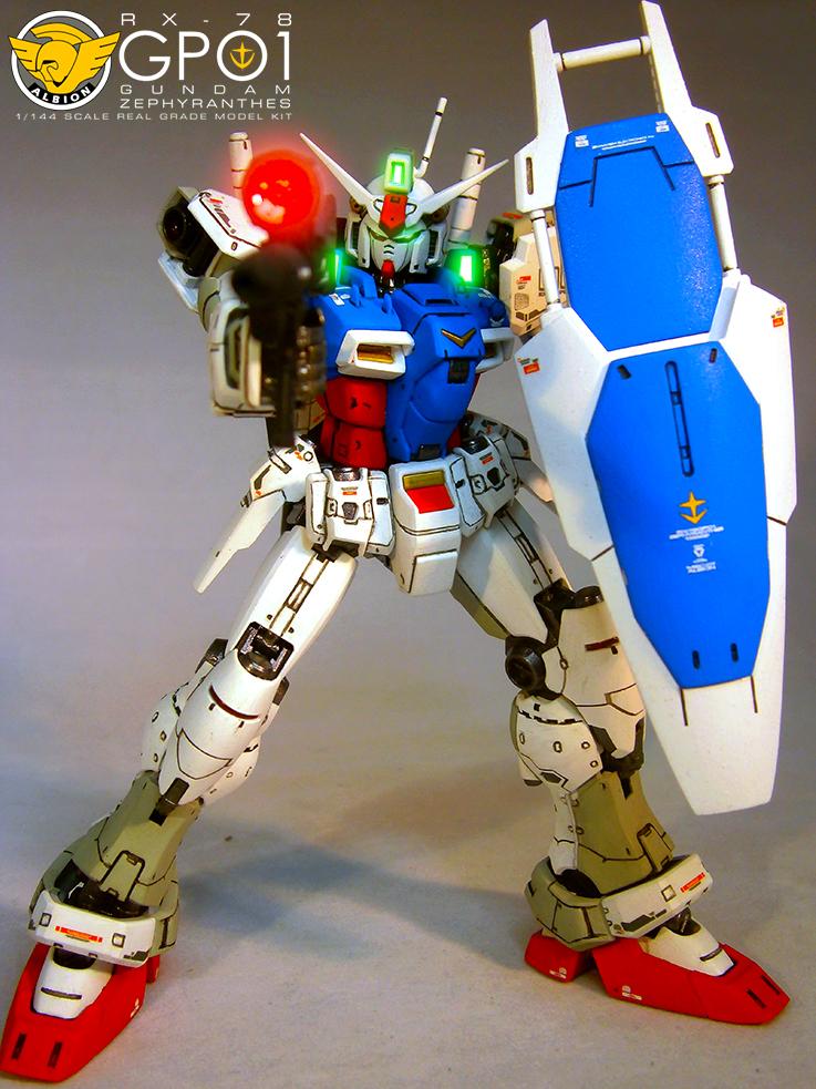 RG 1/144 RX-78 GP01 Gundam Zephyranthes: Modeled by Lean ...