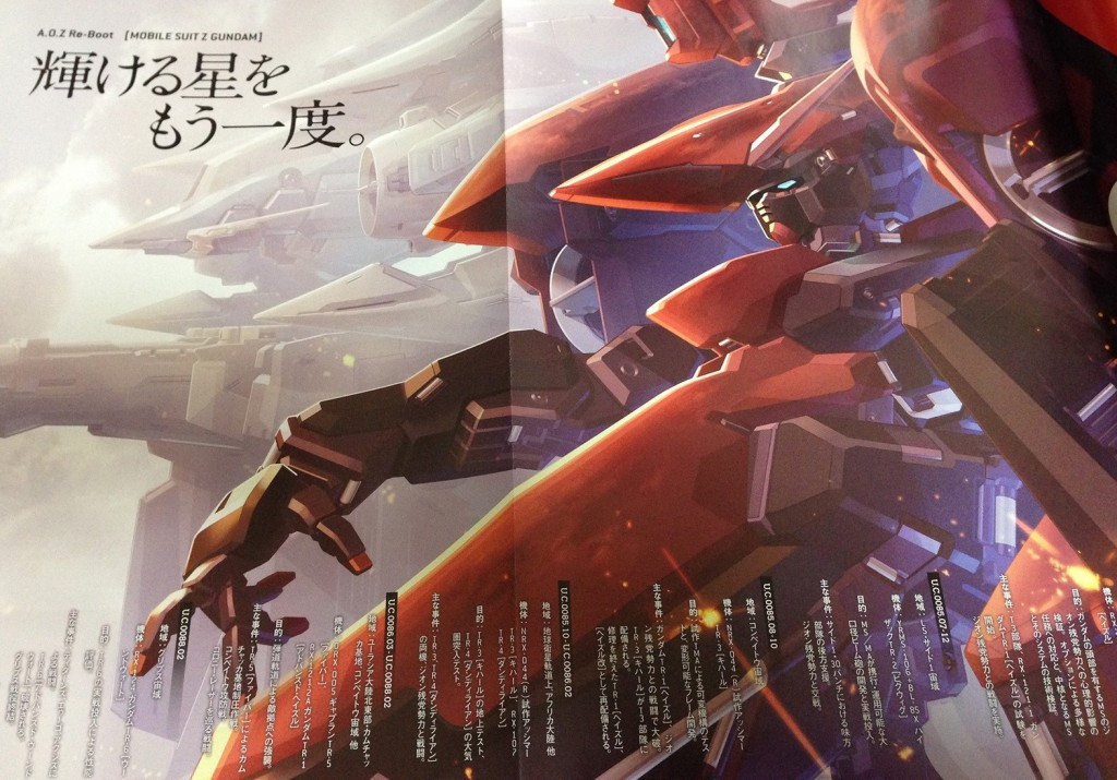 Mobile Suit Z Gundam: Advance of Zeta [A.O.Z] Re-Boot: No.12 Wallpaper Size Images (Some smaller)