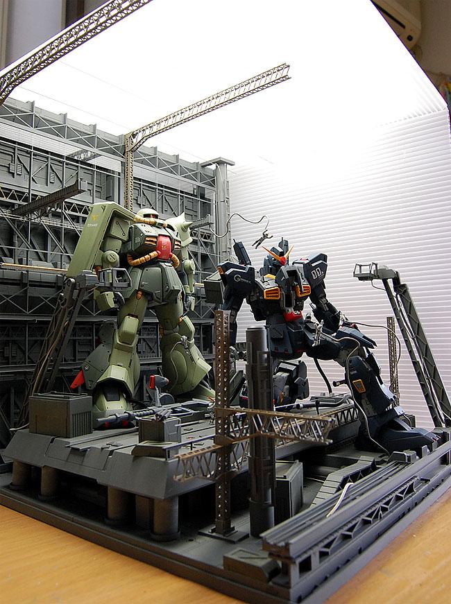 Gunpla Diorama MG RX 178 Gundam Mk 2 Ver20 MG RMS 106