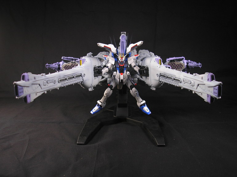 1/144 Meteor Unit + Freedom Gundam: Improved, Painted Build by gushi. Really a Good Work! Photoreview Big Size Images, Info