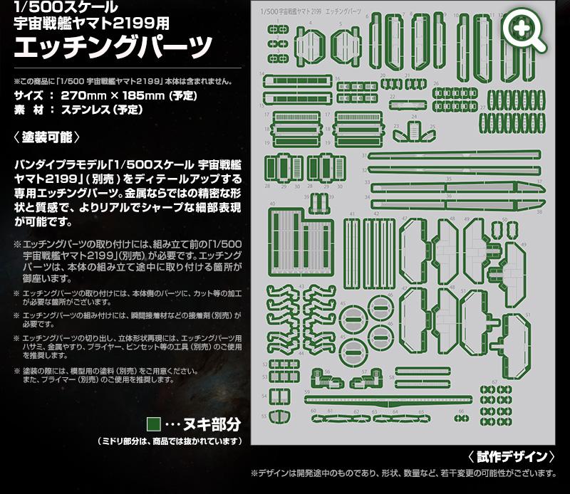Premium Bandai 1/500 Space Battleship Yamato 2199 Etching ...